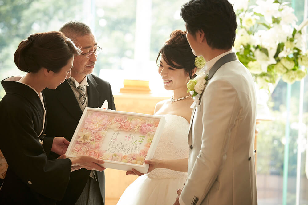 結婚式で両親へ感謝状