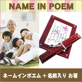 ネームインポエム お祝い寿箸セット